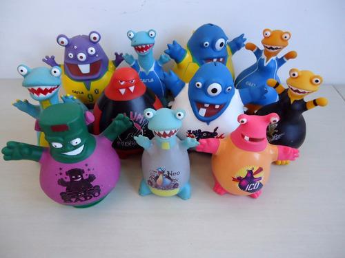 bonecos promocionais poupançudos da caixa kit 11 peças !