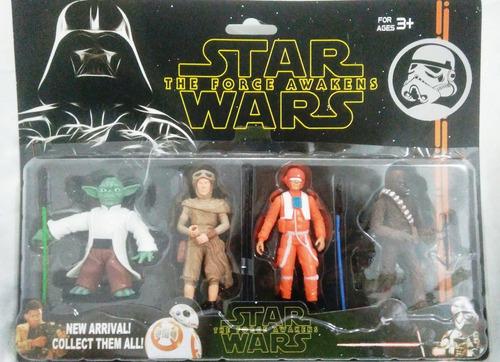 bonecos star wars kit com 4 personagem