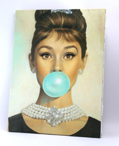bonequinha de luxo  quadro  impresso em tela de pintura
