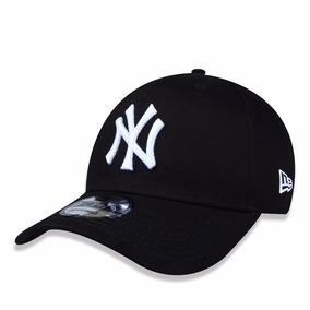 7771ca5fa1f2f Boné New Era Aba Curva Mlb New York Yankees Preto Ajustável. R  169