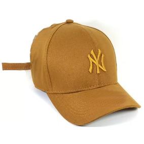 ef30073bb9ea4 Boné New York Brand Land Ny Caramelo Bege Khaki Aba Curva