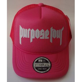 de34caf7be4dc Boné Tela Silk Purpose Tour Justin Bieber Pink Tomflex