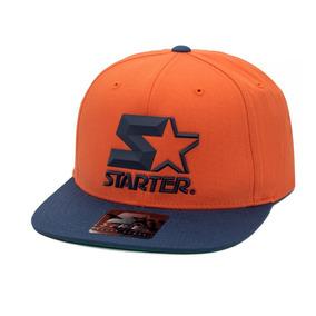 d1118e43ae5d1 Boné Starter Aba Reta Snapback 3d Star Logo Laranja
