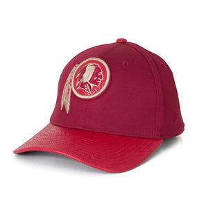 4e45ac509d443 Boné New Era 39thirty Washington Redskins Aba Couro Vinho