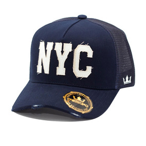 1d85e031b Boné New York Trucker Aba Curva Camuflado Telinha Snapback ...