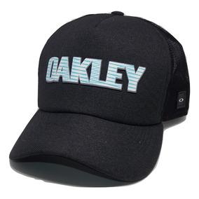 d8a1c63ee9322 Boné Trucker Oakley Telinha Aba Curva Snapback