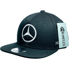 b964a86279c83 Boné Strapback Mercedes Benz 2un Aberto Aba Quadrada