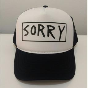 7a138640e183b Boné Sorry Justin Bieber Cap Preto E Branco · R  60. 12x R  5. Frete grátis
