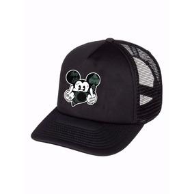 34fe1a6987673 Boné Trucker Telinha Aba Curva Mickey Mouse Thuglife Unissex
