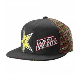 7a9e7694843 Boné Rockstar Metal Mulisha Flexflit Seminovo