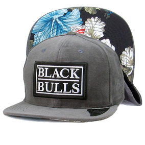 99e9519902575 Boné Black Bulls Aba Reta Floral Bordado Original Top L-28