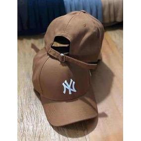 1a7477484 Boné New York Ny Yankees Fita Caramelo Snapback Lindo Barato