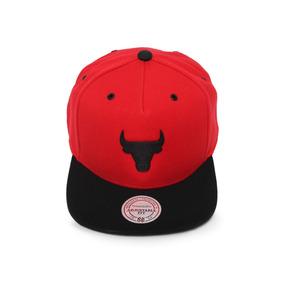 29def8d21ecf8 Boné Chicago Bulls Mitchell Ness Snapback Aba Reta Denim - Bonés ...