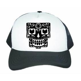 54e2fa3d0716e Boné Aba Curva Trucker Caveira Mexicana Quadrada