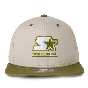 01bbdef0aafec Boné Starter Black Label Snapback Bege   Verde Original
