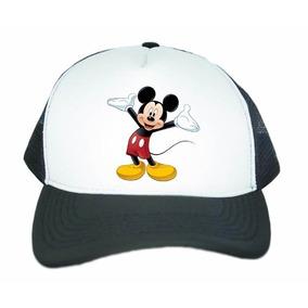 4517e008de927 Boné Aba Curva Trucker Mickey Mouse Disney Promoção