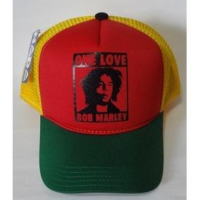 d57d8c194936a Bone Aba Reta Bob Marley - Bonés para Masculino no Mercado Livre Brasil