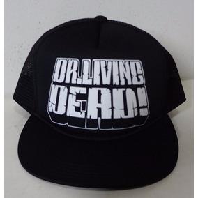 c3371f0f024a3 Boné Trucker Preto Silk Dr Living Dead Flip Hat Thrash Metal