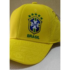 269acc30d5905 Bone Da Selecao Brasileira Azul no Mercado Livre Brasil