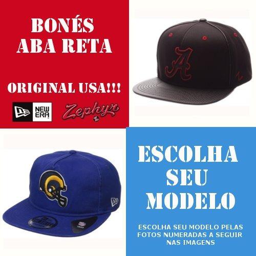Bonés Originais Aba Reta De Marca Regulável New Era Usa Eua - R  69 ... 6f3656af805