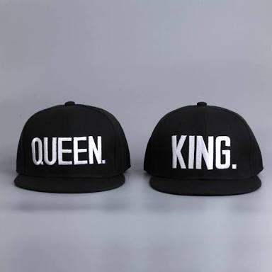 bonés snapback king e queen casal