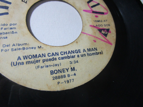 boney m 1977  sencillo antiguo vinilo 45rpm z6