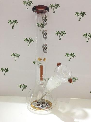 bong pipa de agua atrapa hielo calavera - olivos grow