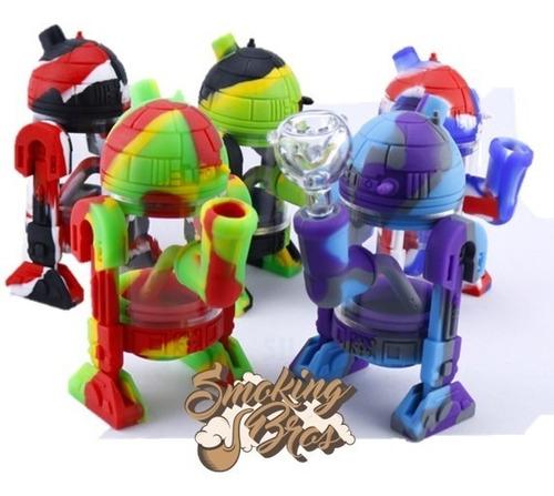 bong robot star wars de silicon + bowl vidrio