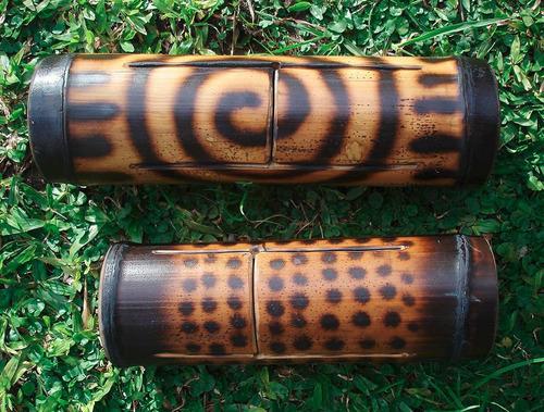 bongo bambú - percusión precolombina - nektar - teponaztli