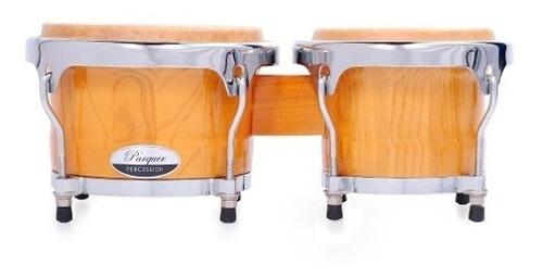 bongo madera parquer rumba 7 y 8.5 parche piel herraje metal