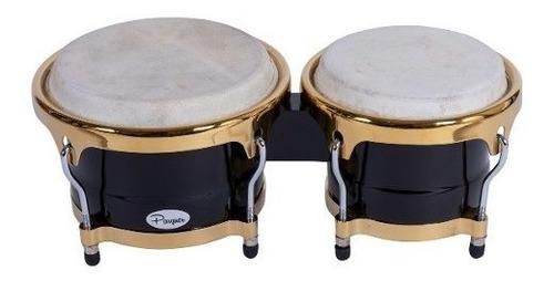 bongo negro parquer mystic 7 y 8.5 parche piel herraje metal