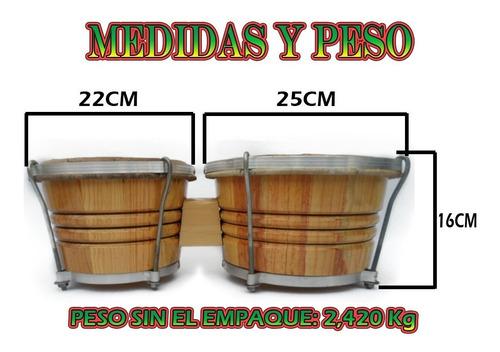 bongo profesional madera de cedro y pino natural percusión