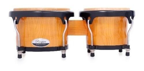 bongos parquer custom natural aro negro 6.5 y 7.5 cuota