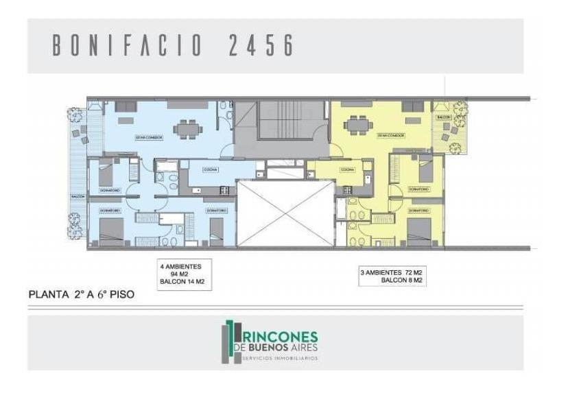 bonifacio 2456 - * * *  u l t i m o - a valor inversor - 3 amb. c/ balcon terraza * * *