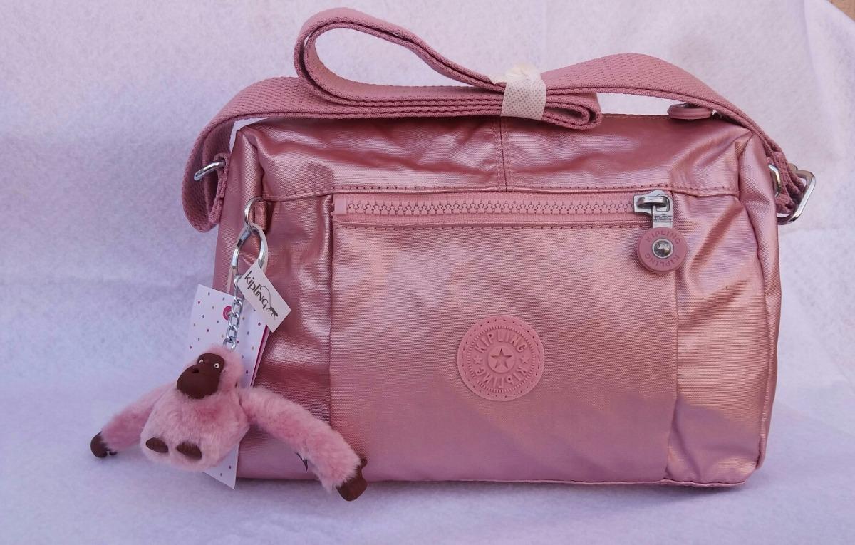 5cef5f334 Bonita Bolsa Rosa Metalico De Kipling!!! Original - $ 1,320.00 en ...