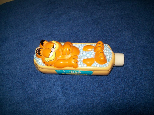 bonita botella vacia de espuma para baño garfield