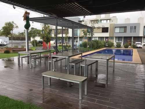 bonita casa en renta en fraccionamiento element, tlajomulco.