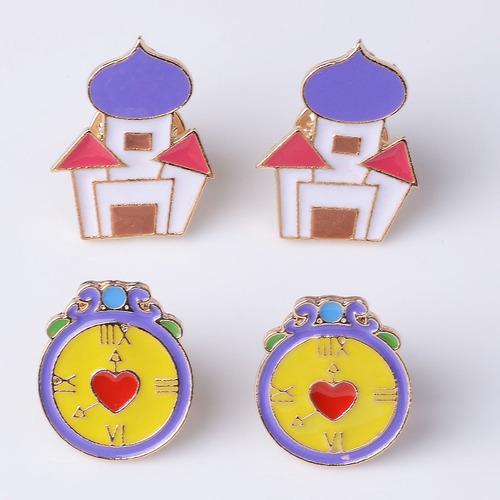 bea9643b9a1 Bonita Casa Y Reloj Despertador Pin De Embrague De Nu Broch ...