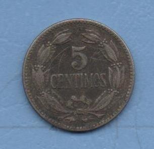 bonita moneda de 5 céntimos (puya) de 1958