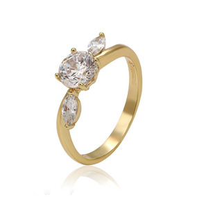bb24b3f9f2a9 Anillo En Oro 14 K. Con Diamante Corte Brillante. Bizarro - Anillos en  Mercado Libre México