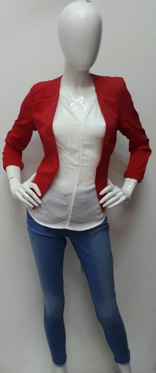 93fc9d0c Bonito Blazer Color Rojo De Dama - Primavera