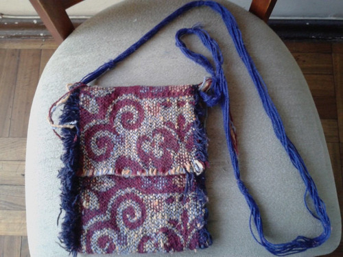 bonito bolso tejido hippie original