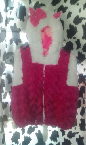 bonito chaleco botarga para niña (diferentes tallas)