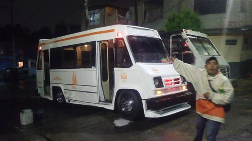 bonito microbus chevrolet 91 al 100