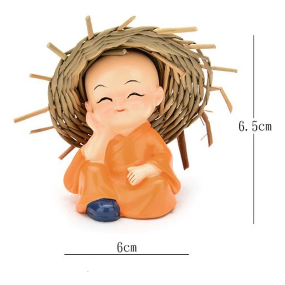 Bonito Pequeno Kung Fu Monks Figura Desenhos Animados Decora R