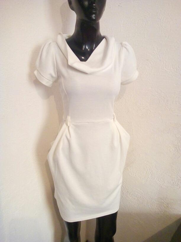Bonito Vestido Blanco Talla M Shasa 5500