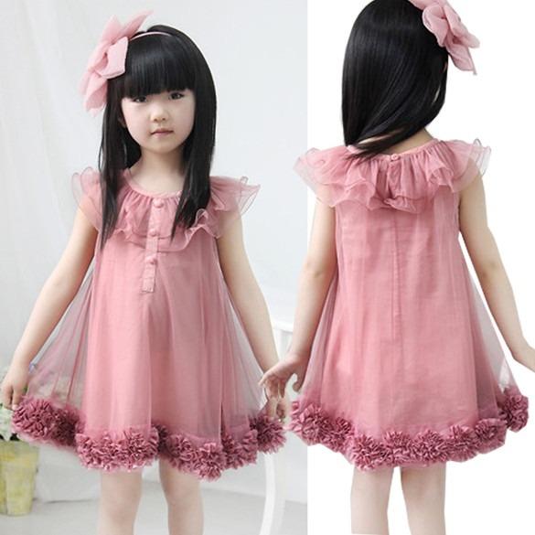 df09de484 Bonito Vestido Casual Para Niña Moda Koreana Envio Gratis - $ 429.00 ...