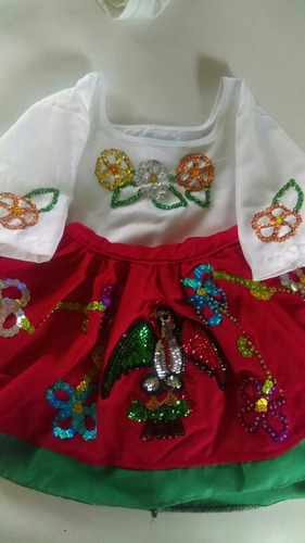 bonito vestido de china poblana para niña de 1 a 2 años