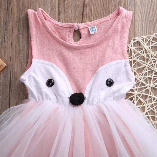 bonito vestido de pink fox con tutú muy suave