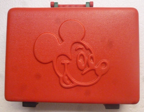 bonito y antiguo maletin mickey mouse plastico